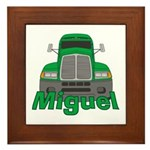 Trucker Miguel Framed Tile