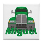 Trucker Miguel Tile Coaster