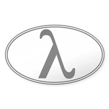 Lambda Euro Oval Decal