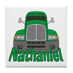 Trucker Nathaniel Tile Coaster