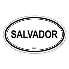 Salvador, Brazil euro Oval Decal