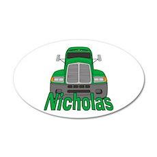 Trucker Nicholas 38.5 x 24.5 Oval Wall Peel