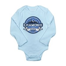 Chamonix Blue Long Sleeve Infant Bodysuit