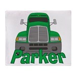 Trucker Parker Throw Blanket