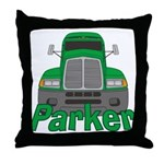 Trucker Parker Throw Pillow
