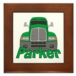 Trucker Parker Framed Tile