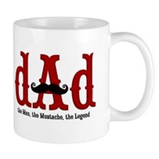 Mustache Dad Small Mugs