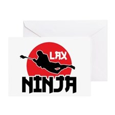 Lacrosse Ninja Greeting Card