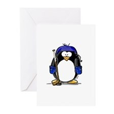 Hockey Penguin Greeting Cards (Pk of 10)