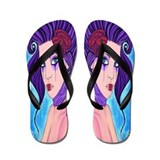 Cool Purple rose Flip Flops
