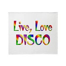 Live Love Disco Throw Blanket