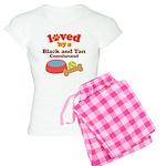 Black and Tan Coonhound Dog Gift Women's Light Paj