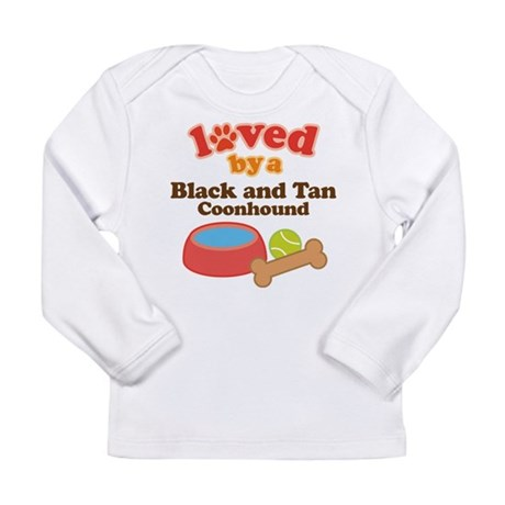 Black and Tan Coonhound Dog Gift Long Sleeve Infan