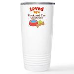 Black and Tan Coonhound Dog Gift Ceramic Travel Mu