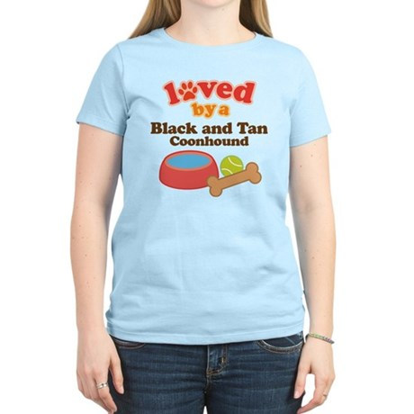 Black and Tan Coonhound Dog Gift Women's Light T-S