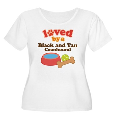 Black and Tan Coonhound Dog Gift Women's Plus Size