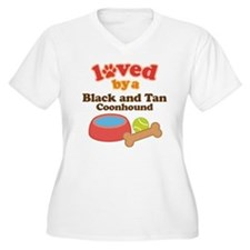 Black and Tan Coonhound Dog Gift T-Shirt