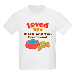 Black and Tan Coonhound Dog Gift Kids Light T-Shir