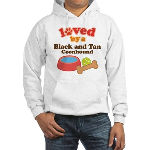 Black and Tan Coonhound Dog Gift Hooded Sweatshirt