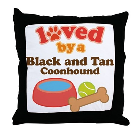 Black and Tan Coonhound Dog Gift Throw Pillow