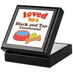 Black and Tan Coonhound Dog Gift Keepsake Box