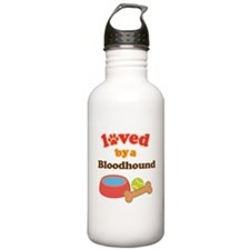Bloodhound Dog Gift Water Bottle