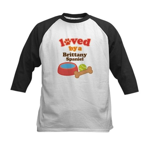 Brittany Spaniel Dog Gift Kids Baseball Jersey