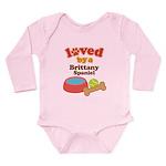 Brittany Spaniel Dog Gift Long Sleeve Infant Bodys