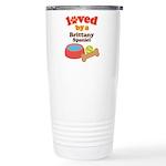 Brittany Spaniel Dog Gift Ceramic Travel Mug