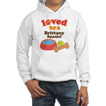 Brittany Spaniel Dog Gift Hooded Sweatshirt