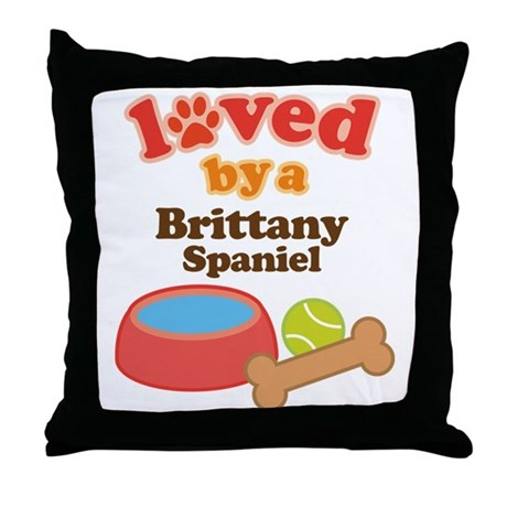 Brittany Spaniel Dog Gift Throw Pillow