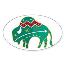 Indian Spirit Buffalo Oval Decal