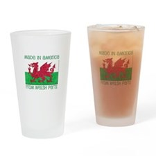 Cute Wales america Drinking Glass