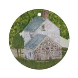 Manor House By The Glen Ornament (Round)