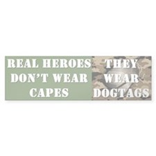 """Real Heroes"" Bumper Sticker"