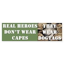 """Real Heroes"" Bumper Sticker"