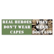 """""""Real Heroes"""" Car Sticker"""