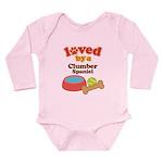 Clumber Spaniel Dog Gift Long Sleeve Infant Bodysu