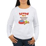 Clumber Spaniel Dog Gift Women's Long Sleeve T-Shi