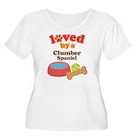 Clumber Spaniel Dog Gift Women's Plus Size Scoop N