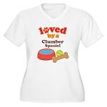 Clumber Spaniel Dog Gift Women's Plus Size V-Neck