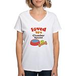Clumber Spaniel Dog Gift Women's V-Neck T-Shirt