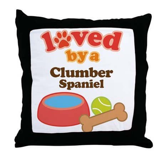 Clumber Spaniel Dog Gift Throw Pillow