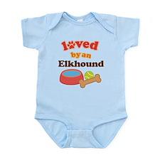 Elkhound Dog Gift Infant Bodysuit