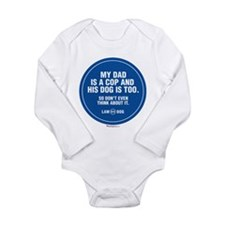 Cute K9 Long Sleeve Infant Bodysuit
