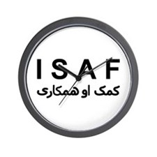 ISAF - B/W (1) Wall Clock
