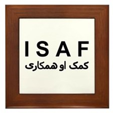 ISAF - B/W (1) Framed Tile