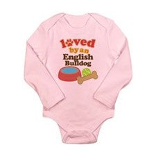 English Bulldog Pet Gift Long Sleeve Infant Bodysu