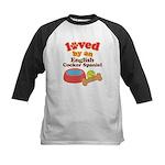 English Cocker Spaniel Dog Gift Kids Baseball Jers