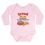 English Cocker Spaniel Dog Gift Long Sleeve Infant